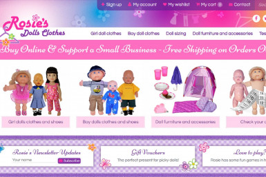 Rosies Dolls Clothes Online Business for Sale Brisbane