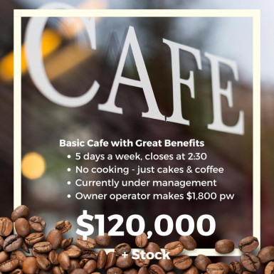 Basic Cafe Business for Sale Perth