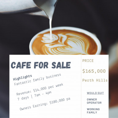 Cafe Business for Sale Perth