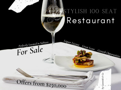 Restaurant Business for Sale Perth